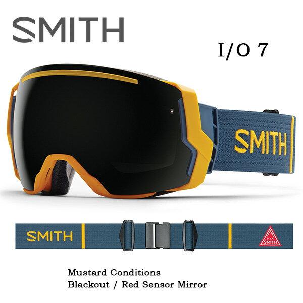 【スマホエントリーで全品10倍】2016 スミス SMITH OPTICS ゴーグル I/O7 アイオーセブン Mustard Conditions アジアンフィット 即日発送