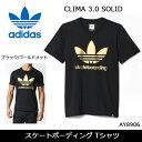 【メール便・代引不可】adidas/アディダス Tシャツ アディダス スケートボーディング Tシャツ CLIMA 3.0 SOLID FILL TEE 16FW ブラック/ゴールドメット AY8906 【服】