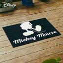 【メーカー直送】 Disney Mat Collection ディズニー 玄関マット Mickey ミッキー シルエット ホワイト 50×75cm 洗える 滑り止め BK00070 クリーンテックス