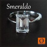 【】WG 10k CZ钻石(氧化锆)指环《sumerarudo》珠宝饰品女士戒指指环白色合金黄金【音乐gifumesse】P25Jan15[【】WG 10K CZダイヤ(キュービックジルコニア)リング≪スメラルド≫ジュエリーアクセサリーレディース指輪