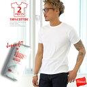 tシャツ メンズ HANES ジャパンフィット2枚組 Uネック 半そで 下着 肌着 インナー 白 ホワ
