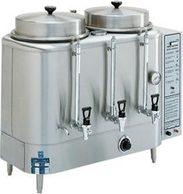 送料無料 ブルーマチック BREWMATIC 業務用 水道直結 コーヒーマシン Coffee Urn T6EA 22 リットル 2連