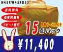 【送料無料】宅配クリーニング 保管 15点パック