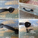 Door handle S [doorknob] made by French-like brass painted black in the image of an iron [drawer handle] [brass steering wheel] [brass knob] [tree house] [handle53] [duve]