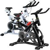 【送料無料】 エアロバイク スピンバイク 減振動タイプ サスペンション付き フィットネスバイク スマホ台付 スマホ ホルダー ダイエット ベルト式