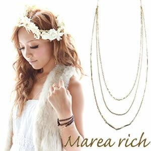 送料無料 マレア リッチ Marea rich Triple Necklace K10 3連ネックレス ゴールド 10KJ-28 送料無料/ゴールド/K10/小森純プロデュース