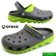 <送料無料>クロックス crocs Duet Max Clog 201398-0A1 Graphite/volt green デュエット マックス クロッグ サンダル【RCP】