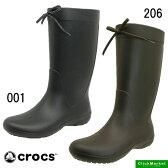 <送料無料>クロックス crocs freesail rain boot 203541-001 206 フリーセイル レイン ブーツ 長靴 レディース【あす楽_土曜営業】【RCP】