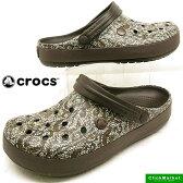 <送料無料>クロックス crocs crocband cable knit clog 203609-206 espresso クロックバンド ケーブルニット クロッグ サンダル【あす楽_土曜営業】【RCP】