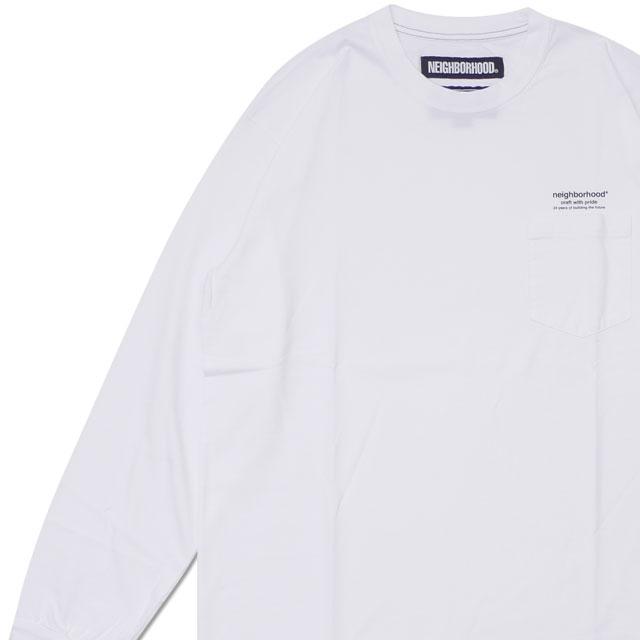 ネイバーフッド NEIGHBORHOOD CLASSICP CCREW.LS 長袖Tシャツ 182ATNHCSM01 WHITE 209000522060 【新品】