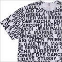 ショッピングギャルソン 【14_00までのご注文で即日発送可能】 コムデギャルソン COMME des GARCONS MENS TYPOGRAPHY TEE Tシャツ WHITE ホワイト 白 メンズ 【新品】 200008060040