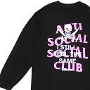 新品 ネイバーフッド NEIGHBORHOOD x アンチソーシャルソーシャルクラブ Anti Social Social Club 19AW ASSC/C-TEE.LS 長袖Tシャツ BLACK ブラック メンズ 2019AW 新作 192GEASN-LTM01S