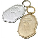 A BATHING APE( エイプ )METALLIC LEATHER key ring [new article] 278-000310-018[1860-482-047] -
