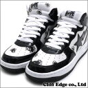 A BATHING APE COLLEGE PRINT BAPE STA MID M[ sneakers] [shoes] BLACK 291-001300-291[1030-191-018] -[new article] [smtb-TD] [yokohama]