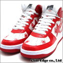A BATHING APE COLLEGE PRINT BAPE STA MID M[ sneakers] [shoes] RED 291-001300-283[1030-191-018] -[new article] [smtb-TD] [yokohama]