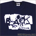 BLACK COMME des GARCONS (ブラック コムデギャルソン) BLACK is STRONG Tシャツ【新品】NAVY200-004589-057x