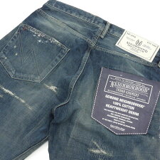 NEIGHBORHOOD(�ͥ��С��եå�)KNOCKDOWNSAVAGE.NARROW/14OZ-PT(�ǥ˥�ѥ��)INDIGO240-001366-047-�ڿ��ʡ�