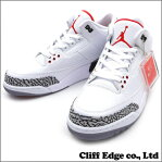 NIKE AIR JORDAN 3 RETRO 88 [スニーカー][シューズ] WHITE/FIRE RED-CMNT GREY-BLACK 580775-160 191-003758-300+