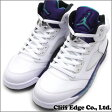 NIKE AIR JORDAN 5 RETRO WHITE/NEW EMERALD-GRAPE ICE-BLACK (エアジョーダン)(スニーカー)(シューズ) 136027-108 191-010215-310191-010313-290+【新品】