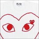 PLAY COMME des GARCONS(プレイ コムデギャルソン)オープンハートTシャツ【新品】WHITExRED200-002826-033