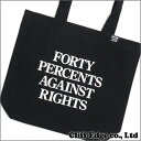 40% AGAINST RIGHTS/FORTY PERCENTS (フォーティーパーセント アゲインストライツ) PG-13/TOTE BAG(トートバッグ) BLACK 277-001961-011x【新品】WTAPS(ダブルタップス)