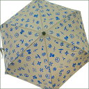 lucien pellat-finet(ルシアン・ペラフィネ)アイコン柄 折り畳み傘【新品】KHAKIxBLUE290-000675-015