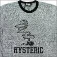 HYSTERIC GLAMOUR(ヒステリックグラマー)WOODSTOCK BONK Tシャツ【新品】GRAY200-002518-042