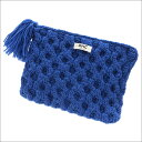 RHC Ron Herman(ロンハーマン) WOOL CLUTCH BAG (クラッチバッグ) BLUE 277-002321-014x【新品】