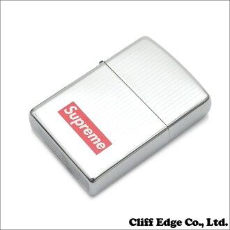 SUPREME (shupurimu) 290-003571-012, SILVER Engraved Zippo (Zippo) (writer) +