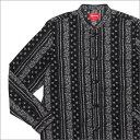 SUPREME(シュプリーム) Toggle Band Collar Shirt (長袖シャツ) BLACK 216-001402-031+【新品】