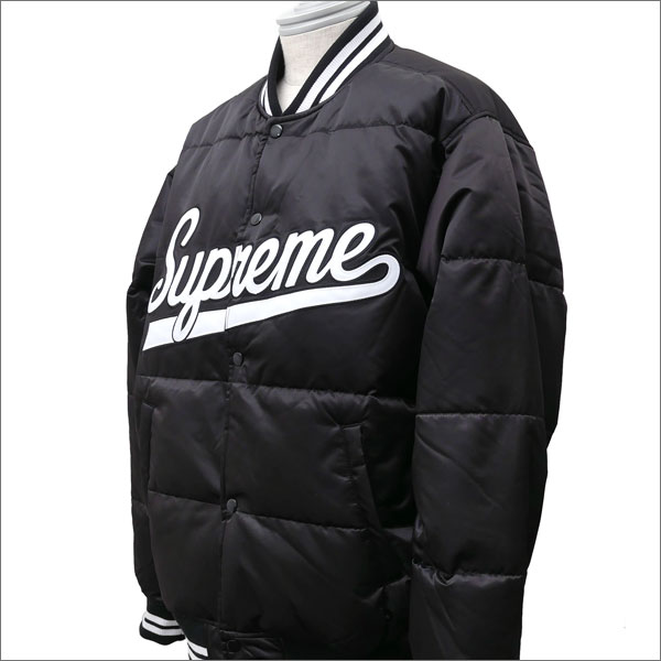 SUPREME(シュプリーム) Script Varsity Puffy Jacket (ジャケット) BLACK 226-000187-051+【新品】