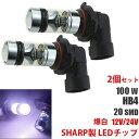 100W HB4 2828チップ 6000K LEDフォグランプ LEDフォグ バルブ 2個セット ホワイト/白色 送料無料