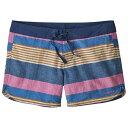 パタゴニア ◆ Wavefarer ボードショーツ レディース(Fitz Stripe Texture / Superior Blue)