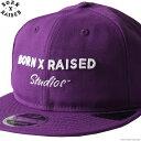 ショッピングパープル 【BORN X RAISED】 ボーンアンドレイズド BORN X RAISED STUDIOS DAD HAT (PURPLE) #36905 メンズ ヘッドギア キャップ パープル