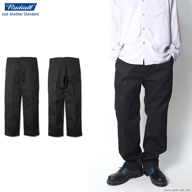 【RADIALL/ラディアル】RADIALL CVS TROUSERS -WIDE FIT- (BLACK)