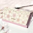 【愛らしい桜の本革かぶせ長財布】可愛い 使いやすい レディー...