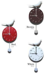 【送料無料】振り子時計シンギングバード[SingingBird]【掛け時計時計壁掛け壁掛け時計おしゃれ動物アニマル鳥シンプルモダンかわいい個性的インテリア壁時計おもしろ雑貨子供部屋リビング玄関ユニークキッズ北欧】
