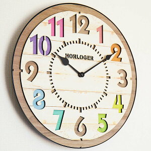 【送料無料】掛け時計電波時計フォルリCL-8332掛け時計【壁掛け時計アナログ時計掛時計電波時計壁掛け木時計北欧カラフル壁掛け電波時計結婚祝い新築祝いおしゃれかわいい西海岸出産祝いギフトプレゼント熨斗】