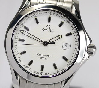 Omega Seamaster 120 2511.21 SS white breath quartz mens watch