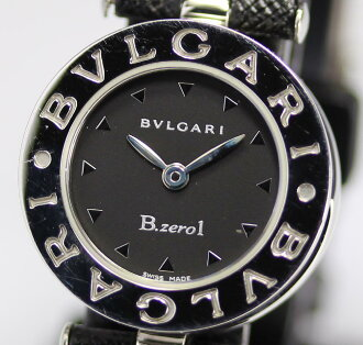 Battery switched ☆ Bvlgari biselovan B-zero1 BZ22S Black Edition genuine brand new leather belt quartz ladies watch with box