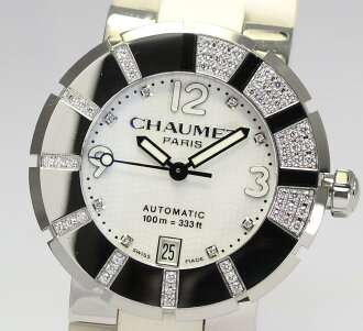 Chaumet class one DIA Basel 8 P diamond index W17288-38E white automatic men's watch lover bless