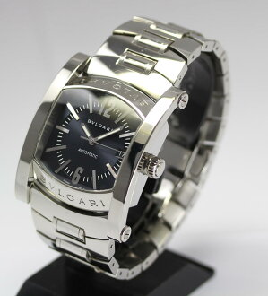 Beauty products ☆ Bulgari ashuma AA48S gray character machine automatic winding SS breath cuff with about 18 inches to meet mens watch box warranty