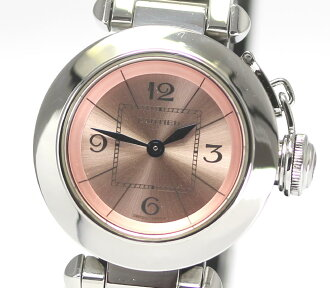* Translation is signed Cartier Miss Pasha W314008 pink character dial quartz ladies watch box and warranty