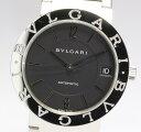 【9月8日価格改定!】【BVLGARI】 ブルガリブルガリ BB33SS AUTO ロゴ有 黒文字盤 SSブレス 自動巻き 腕回り約17センチ対応 メンズ腕時計 箱・国際保証書付【中古】