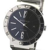 【9月2日価格改定】【BVLGARI】ブルガリブルガリ BB42SS AUTO 黒文字盤 SSブレス 自動巻き メンズ腕時計 箱付【中古】