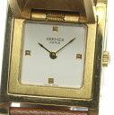 箱保付【HERMES】エルメス メドール クォーツ GP×革 レディース腕時計 ◆【中古】