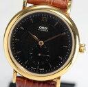 オリス 7423 スモールセコンド 黒文字盤 手巻き メンズ腕時計【中古】
