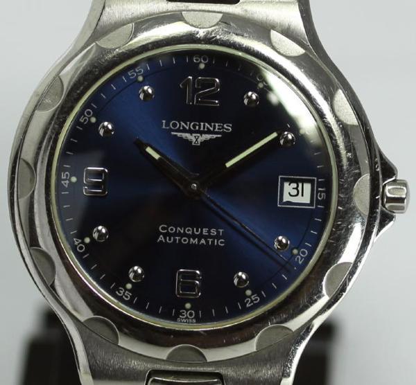 【ロンジン】 コンクエスト L1.634.4 ネイビー文字盤 メンズ AT【】 ●ブランド腕時計専門店CLOSER!15時までの決済で即日発送可能★新生活にブランド腕時計はいかがでしょうか。是非ご利用下さいませ!