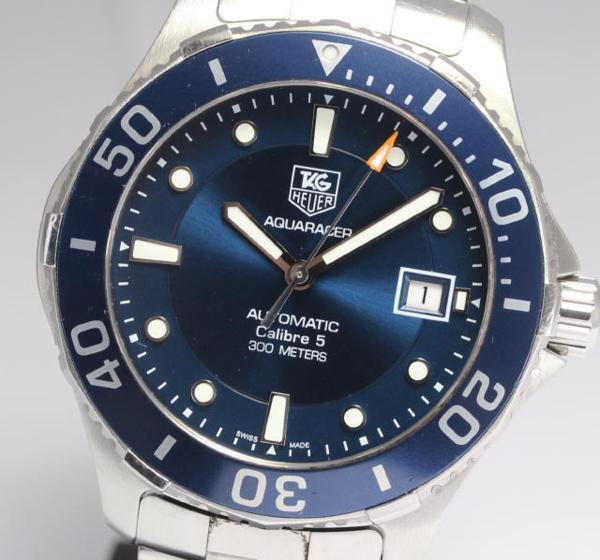 タグホイヤー アクアレーサー キャリバー5 WAN2111 メンズ AT【】 ●ブランド腕時計専門店CLOSER!15時までの決済で即日発送可能★新生活にブランド腕時計はいかがでしょうか。是非ご利用下さいませ!