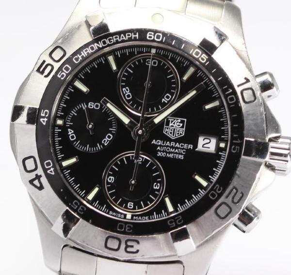 【TAG HEUER】タグホイヤー アクアレーサー クロノ CAF2110 AT◎【】 ●ブランド腕時計専門店CLOSER!15時までの決済で即日発送可能★新生活にブランド腕時計はいかがでしょうか。是非ご利用下さいませ!